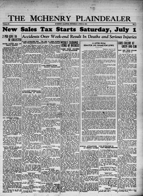 McHenry Plaindealer (McHenry, IL), 29 Jun 1933