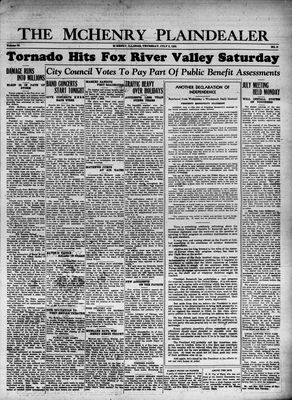 McHenry Plaindealer (McHenry, IL), 6 Jul 1933