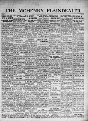 McHenry Plaindealer (McHenry, IL), 10 Aug 1933