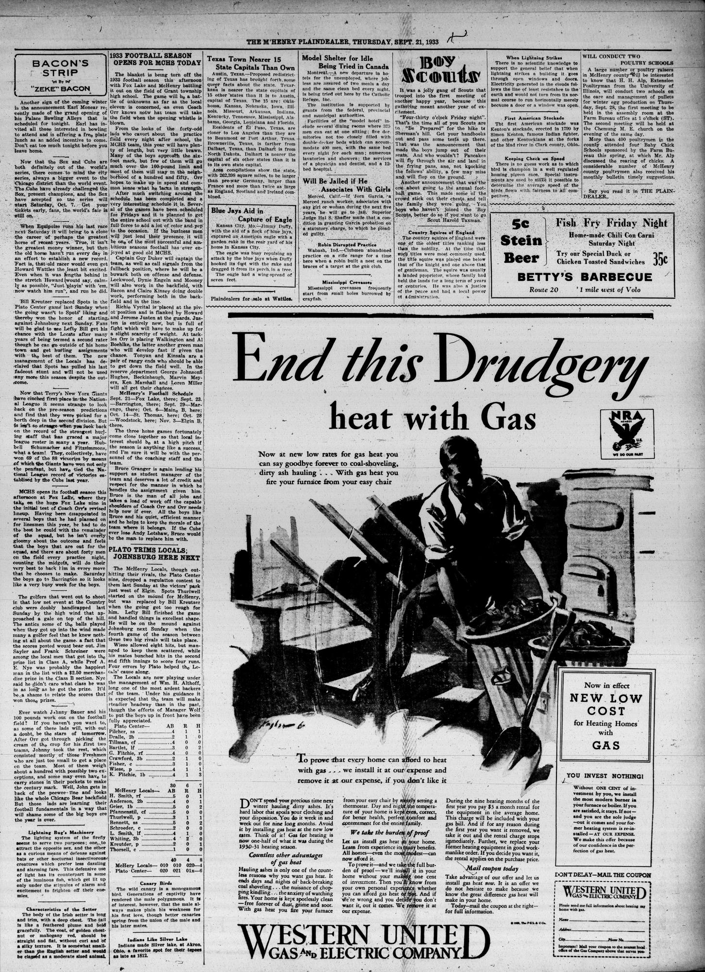 McHenry Plaindealer (McHenry, IL), 21 Sep 1933