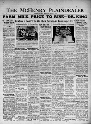 McHenry Plaindealer (McHenry, IL), 5 Oct 1933