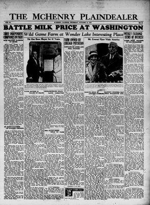 McHenry Plaindealer (McHenry, IL), 19 Oct 1933