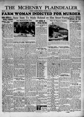McHenry Plaindealer (McHenry, IL), 26 Oct 1933