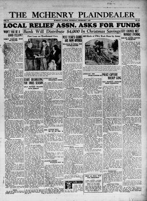 McHenry Plaindealer (McHenry, IL), 7 Dec 1933