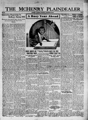 McHenry Plaindealer (McHenry, IL), 28 Dec 1933