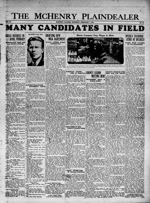 McHenry Plaindealer (McHenry, IL), 1 Feb 1934