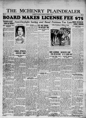 McHenry Plaindealer (McHenry, IL), 15 Mar 1934