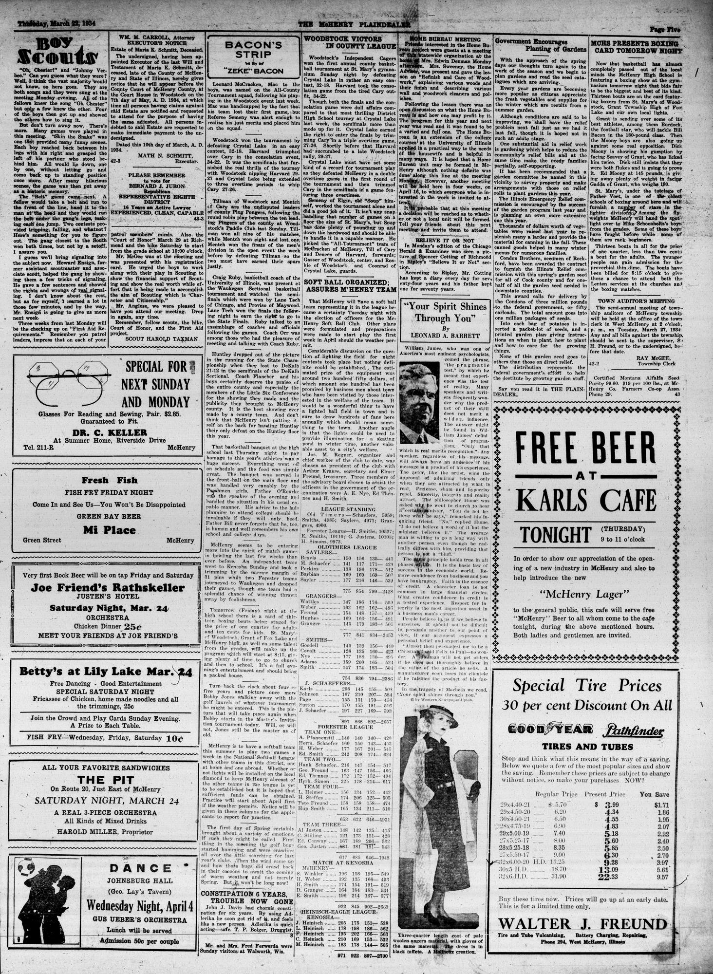 McHenry Plaindealer (McHenry, IL), 22 Mar 1934
