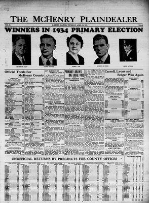 McHenry Plaindealer (McHenry, IL), 12 Apr 1934