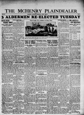McHenry Plaindealer (McHenry, IL), 19 Apr 1934