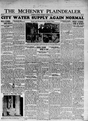 McHenry Plaindealer (McHenry, IL), 2 Aug 1934