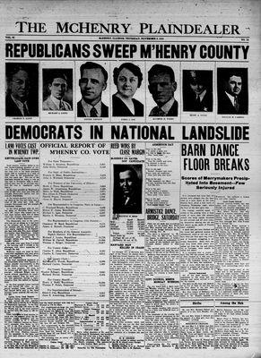 McHenry Plaindealer (McHenry, IL), 8 Nov 1934