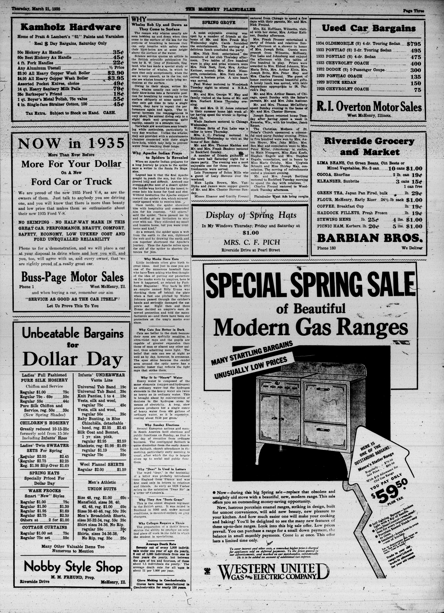 McHenry Plaindealer (McHenry, IL), 21 Mar 1935