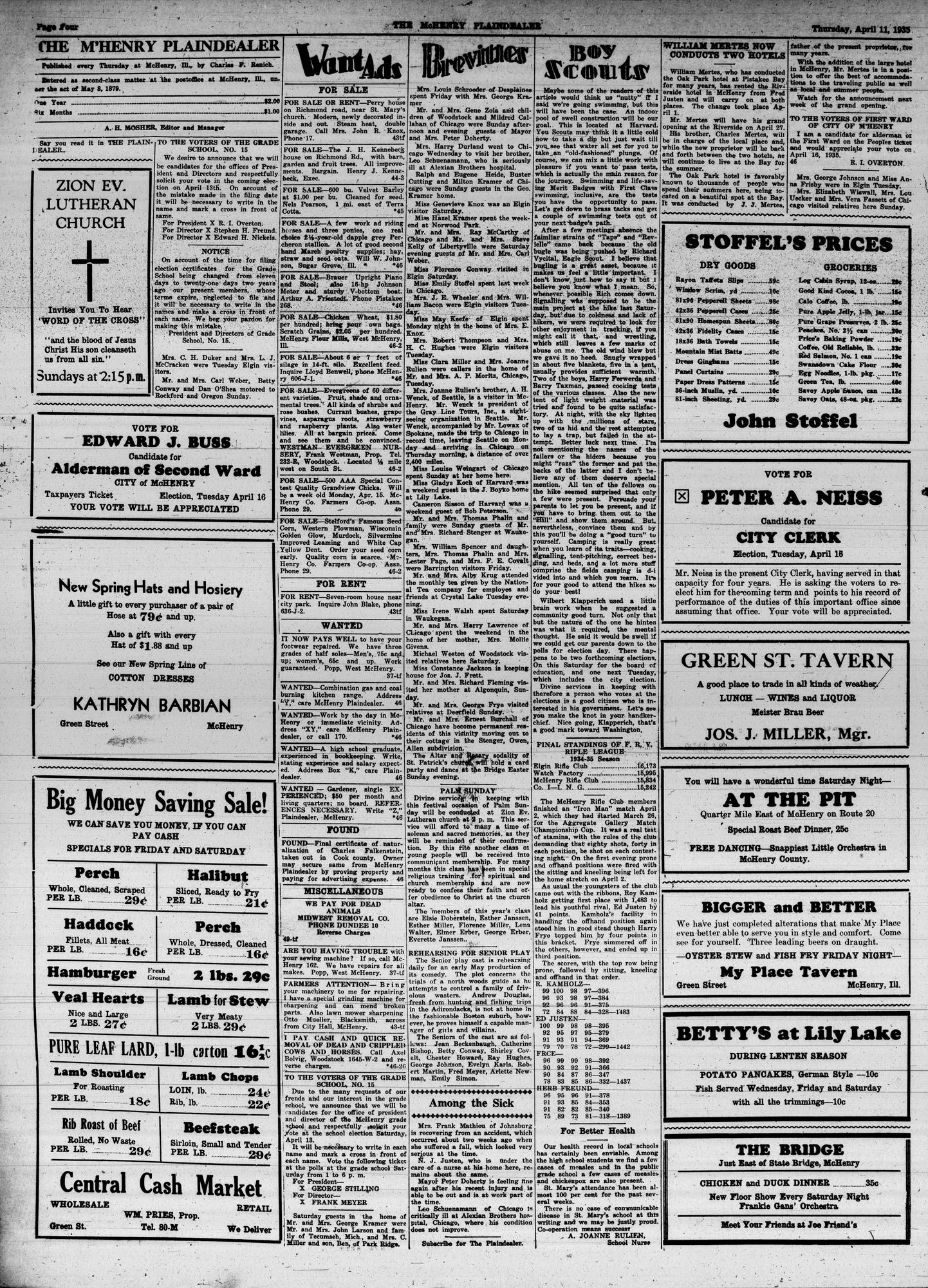 McHenry Plaindealer (McHenry, IL), 11 Apr 1935