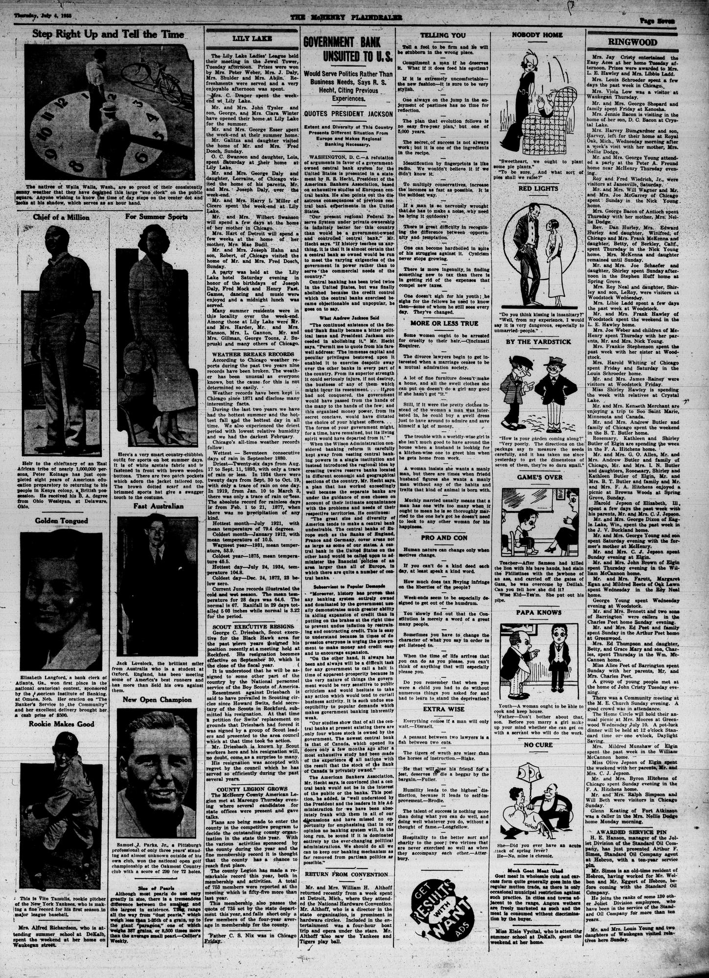 McHenry Plaindealer (McHenry, IL), 4 Jul 1935