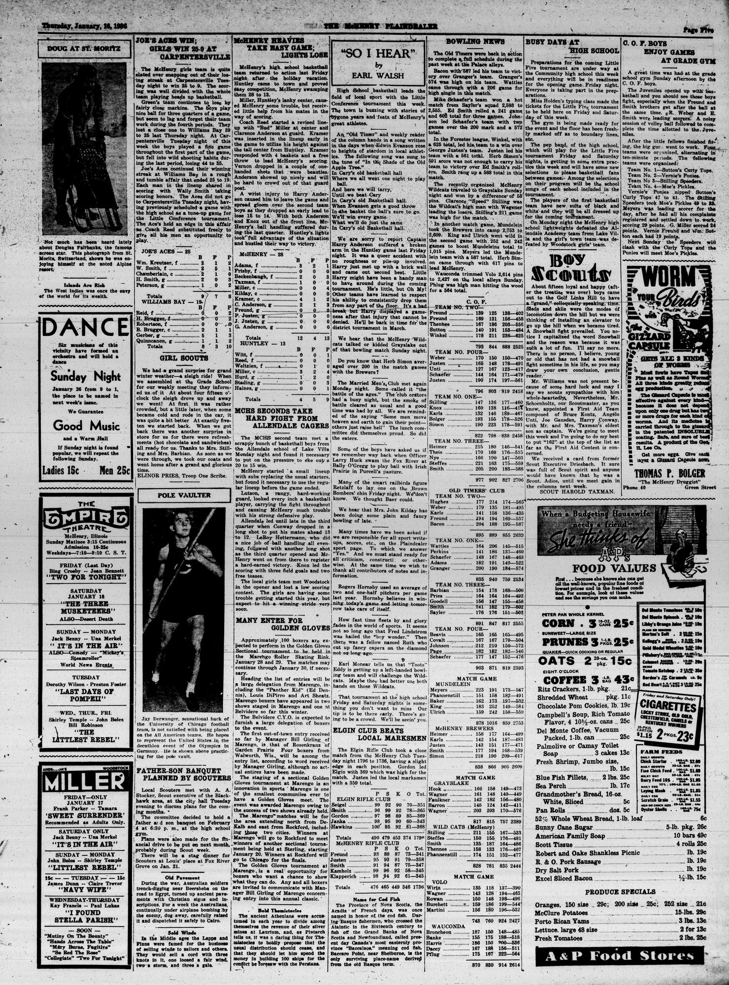 McHenry Plaindealer (McHenry, IL), 16 Jan 1936