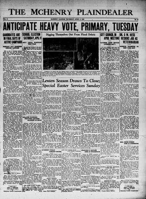 McHenry Plaindealer (McHenry, IL), 9 Apr 1936
