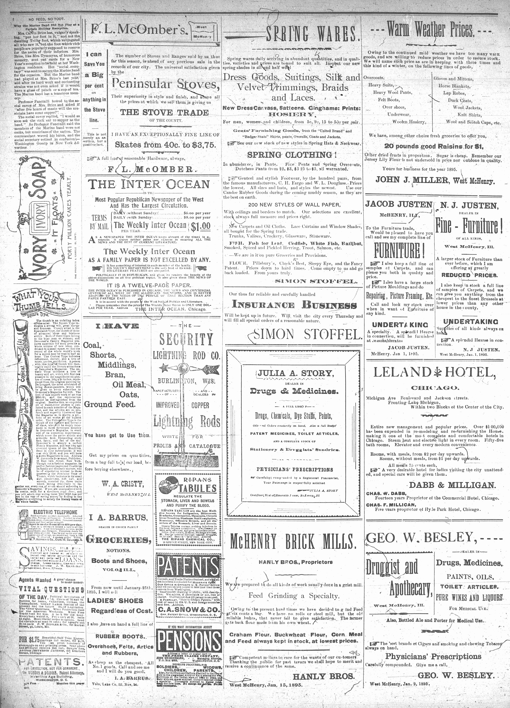 McHenry Plaindealer (McHenry, IL), 6 Mar 1895