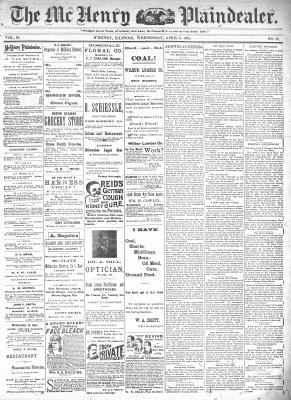 McHenry Plaindealer (McHenry, IL), 3 Apr 1895