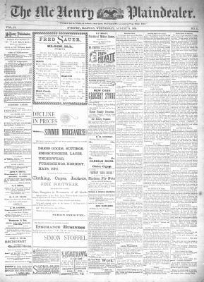 McHenry Plaindealer (McHenry, IL), 14 Aug 1895