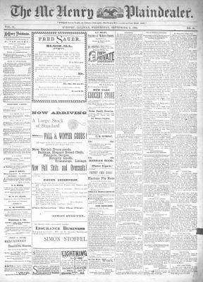 McHenry Plaindealer (McHenry, IL), 11 Sep 1895