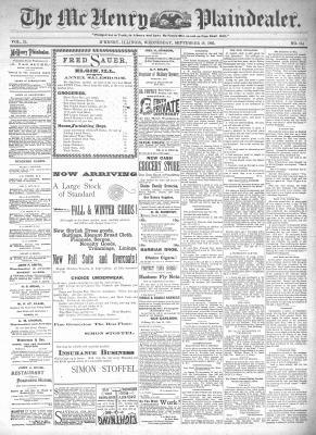 McHenry Plaindealer (McHenry, IL), 18 Sep 1895