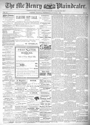 McHenry Plaindealer (McHenry, IL), 9 Oct 1895