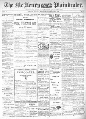 McHenry Plaindealer (McHenry, IL), 27 Nov 1895