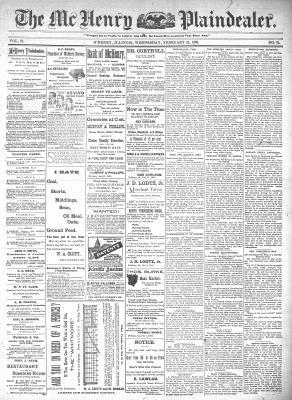 McHenry Plaindealer (McHenry, IL), 12 Feb 1896