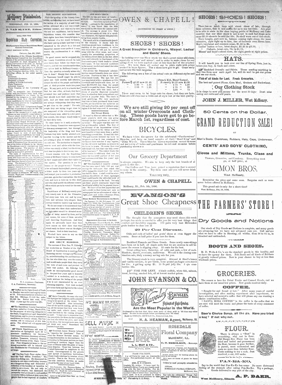 McHenry Plaindealer (McHenry, IL), 19 Feb 1896