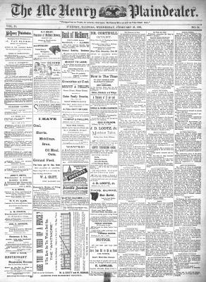 McHenry Plaindealer (McHenry, IL), 26 Feb 1896