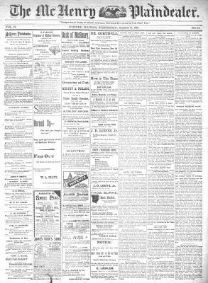 McHenry Plaindealer (McHenry, IL), 18 Mar 1896