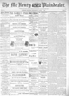 McHenry Plaindealer (McHenry, IL), 25 Mar 1896