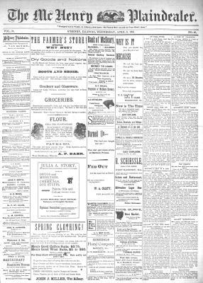 McHenry Plaindealer (McHenry, IL), 8 Apr 1896
