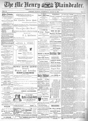 McHenry Plaindealer (McHenry, IL), 12 Aug 1896