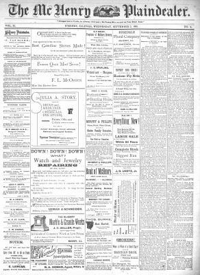 McHenry Plaindealer (McHenry, IL), 2 Sep 1896