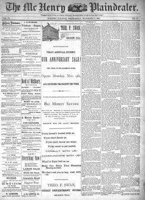 McHenry Plaindealer (McHenry, IL), 4 Nov 1896