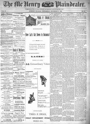 McHenry Plaindealer (McHenry, IL), 11 Nov 1896
