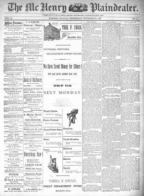 McHenry Plaindealer (McHenry, IL), 25 Nov 1896