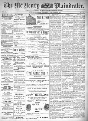 McHenry Plaindealer (McHenry, IL), 9 Dec 1896