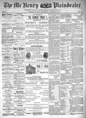 McHenry Plaindealer (McHenry, IL), 23 Dec 1896