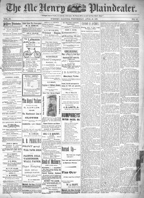 McHenry Plaindealer (McHenry, IL), 28 Apr 1897