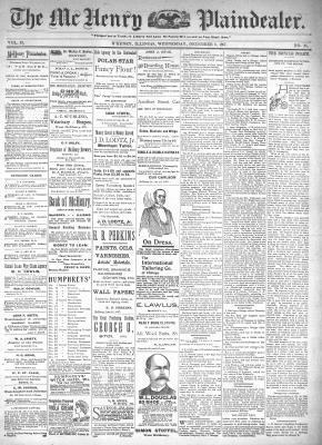 McHenry Plaindealer (McHenry, IL), 8 Dec 1897