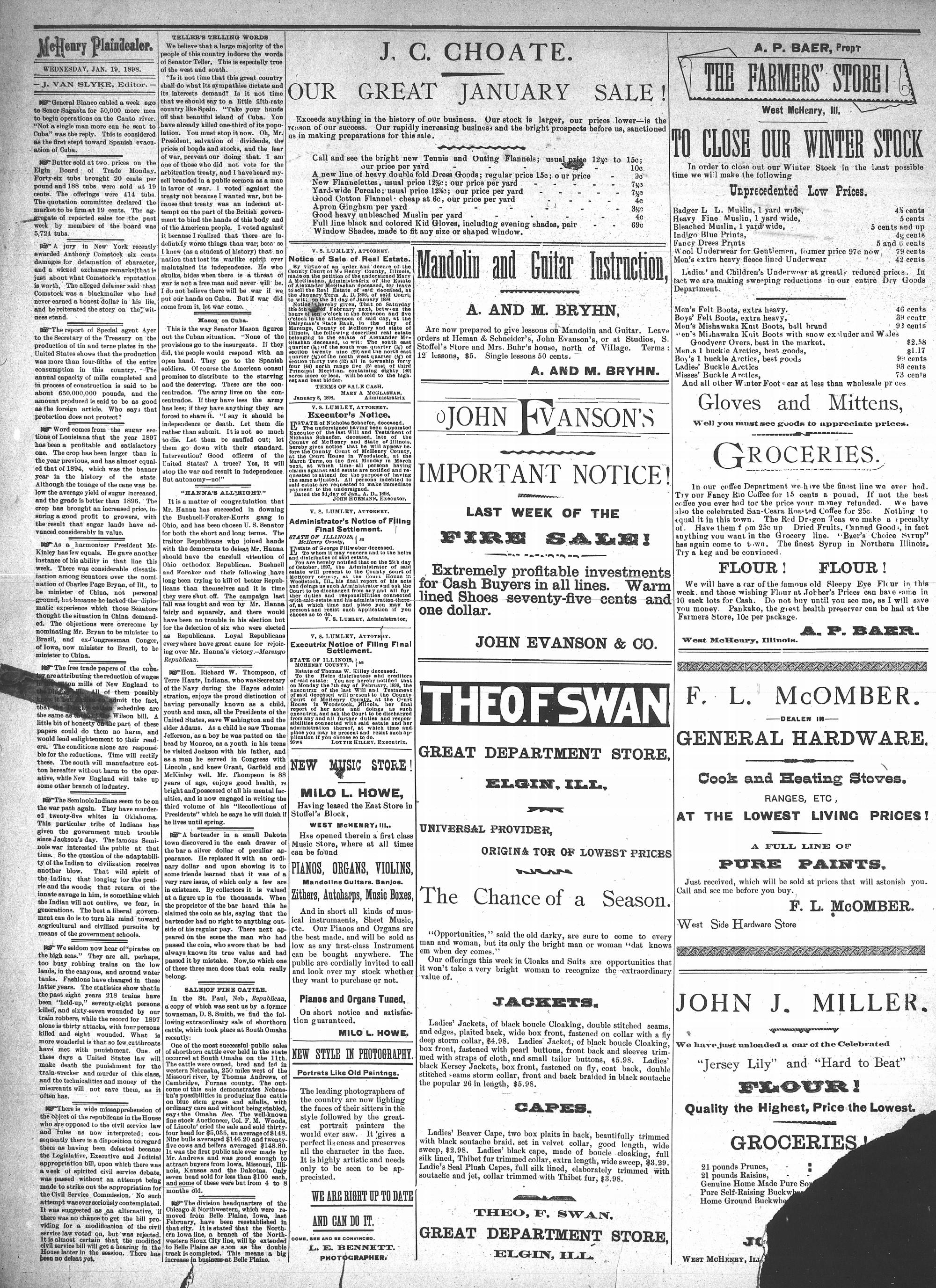 McHenry Plaindealer (McHenry, IL), 19 Jan 1898