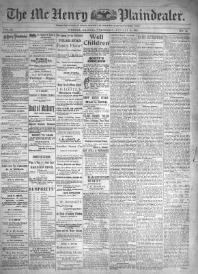 McHenry Plaindealer (McHenry, IL), 26 Jan 1898