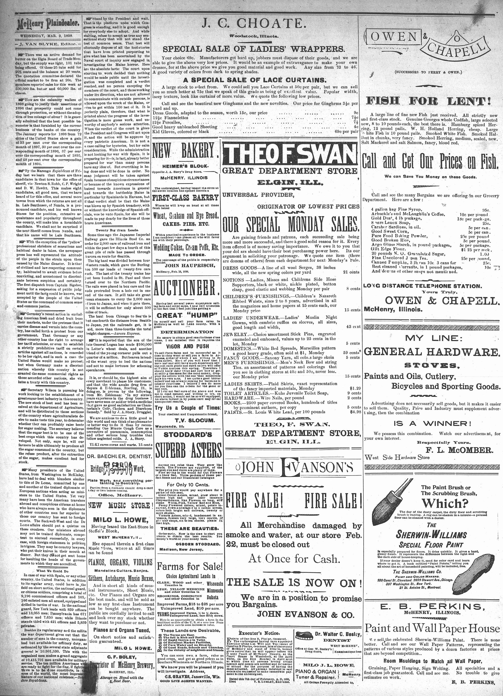 McHenry Plaindealer (McHenry, IL), 2 Mar 1898