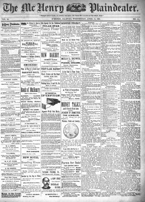 McHenry Plaindealer (McHenry, IL), 13 Apr 1898