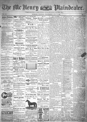 McHenry Plaindealer (McHenry, IL), 6 Jul 1898