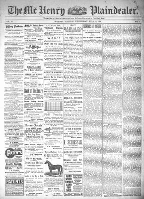 McHenry Plaindealer (McHenry, IL), 13 Jul 1898
