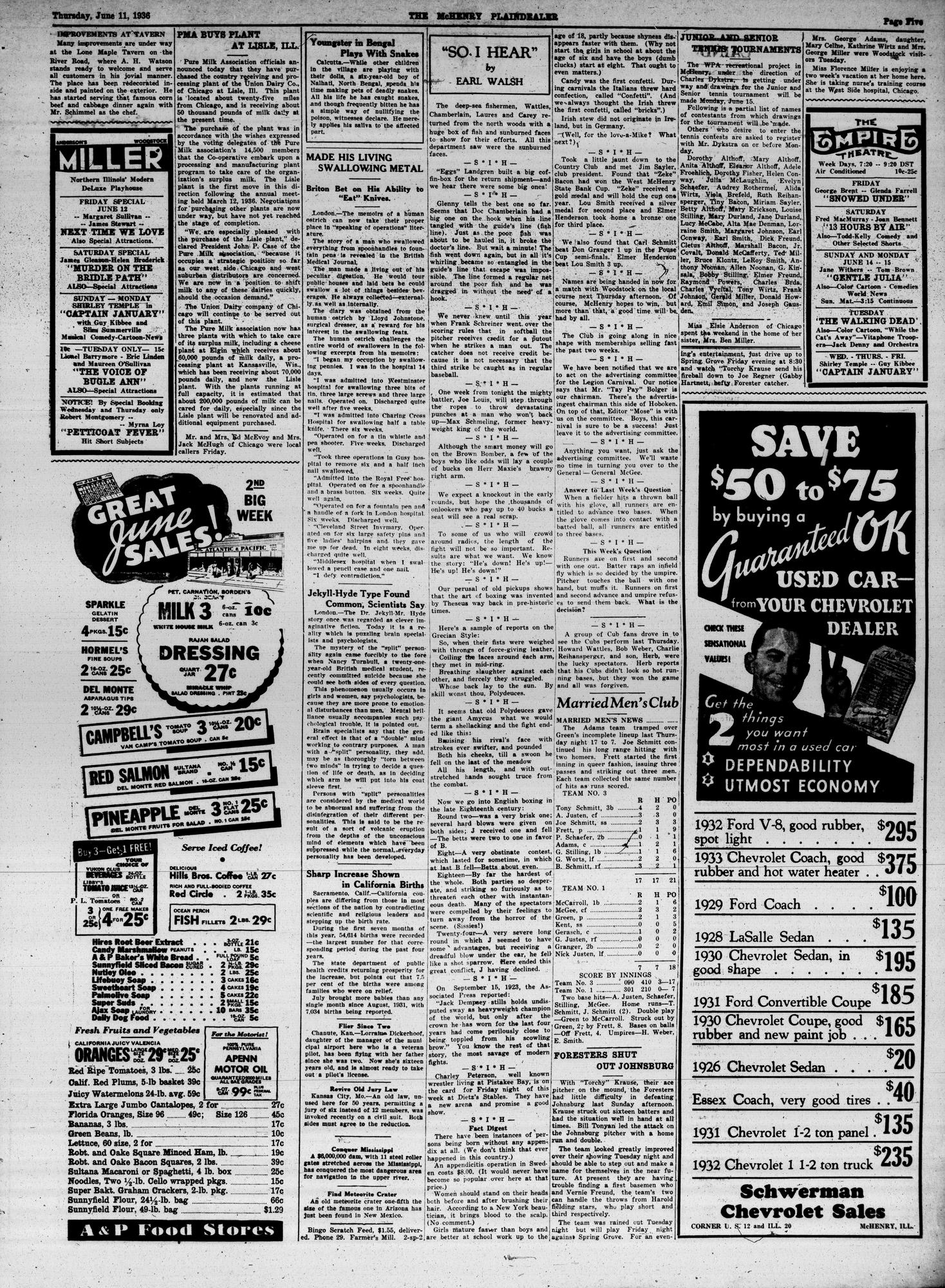 McHenry Plaindealer (McHenry, IL), 11 Jun 1936